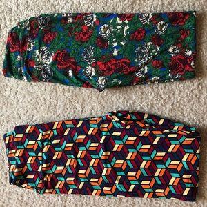 2 pair lot LuLaRoe leggings